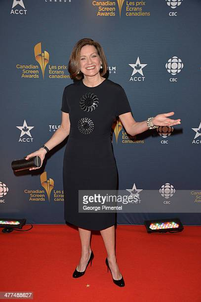News Anchor Lisa LaFlamme arrives at the Canadian Screen Awards at Sony Centre for the Performing Arts on March 9 2014 in Toronto Canada