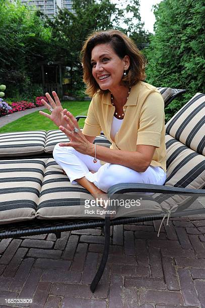 CTV news anchor Lisa Laflamme at home in her own backyard talks to the star about her new role with the networkLaflamme joyful during the interview...