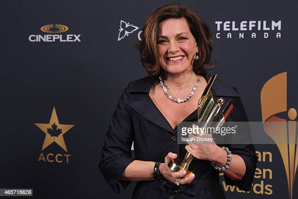 News anchor Lisa Laflamme poses in the press room at the 2015 Canadian Screen Awards at the Four Seasons Centre for the Performing Arts on March 1...