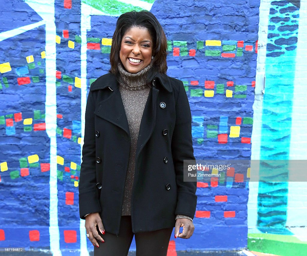 News Anchor Lori Stokes attends the CityArts & Disney 'Celebrating The Heros Of Our City' Mural Ribbon Cutting at Henry M. Jackson Playground on November 6, 2013 in New York City.