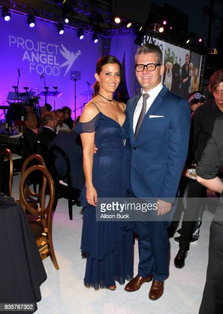 KTLA5 news anchor Lu Parker and Vice president/news director at KTLA 5 News Jason Ball attend Project Angel Food's 2017 Angel Awards on August 19...