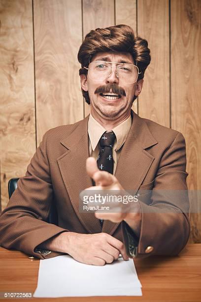 News Anchor Man Retro