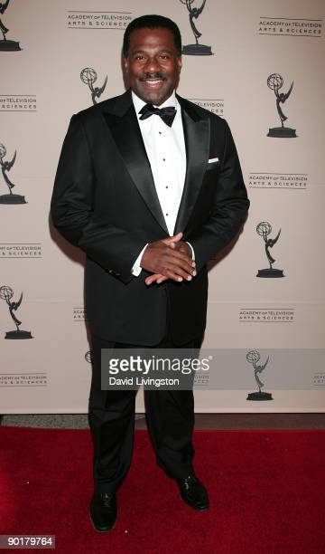 TV news anchor Marc Brown attends the 61st Annual Los Angeles Area Emmy Awards at the Academy of Television Arts Sciences on August 29 2009 in North...