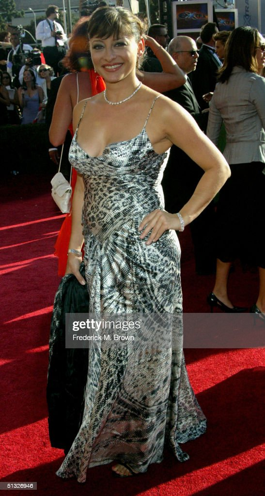 News Anchor Maria Bartiromo attends the 56th Annual Primetime Emmy Awards at the Shrine Auditorium September 19, 2004 in Los Angeles, California.