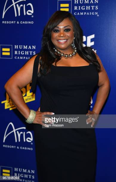 News anchor Monica O Jackson attends the Human Rights Campaign's 13th annual Las Vegas Gala at the Aria Resort Casino on May 12 2018 in Las Vegas...