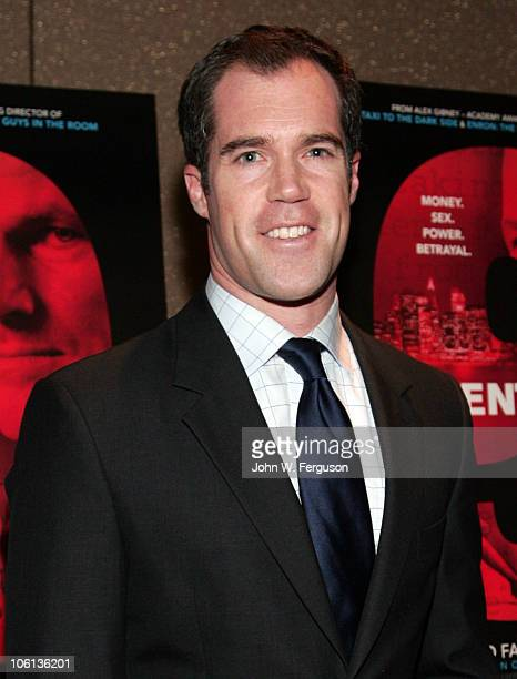 News Anchor Peter Alexander attends the Client 9 The Rise And Fall Of Eliot Spitzer New York Premiere at the Tribeca Grand Hotel on October 26 2010...