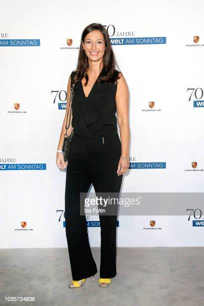 News anchor Pinar Atalay during the 70th anniversary celebration of the German Sunday newspaper WELT AM SONNTAG at The Fontenay Hotel on September 18...