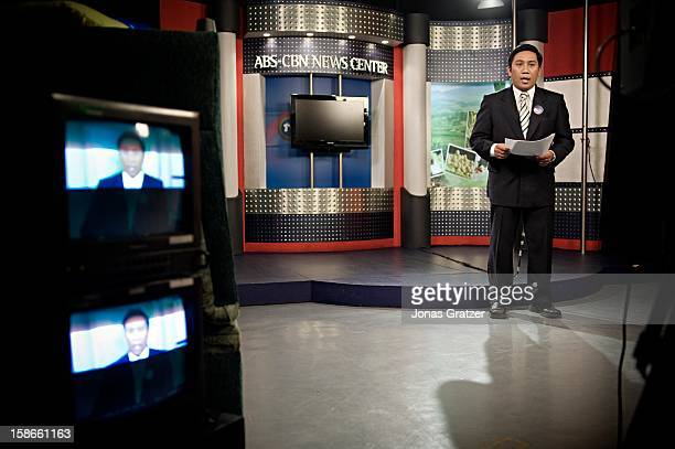 News anchor PJ Dela Pena gets ready for his nightly show. After airing the news about the arrest of two Swedes for running an Internet cybersex den...