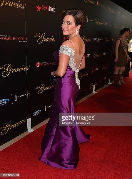 News anchor Robin Meade arrives to the 39th Gracie Awards Gala at The Beverly Hilton Hotel on May 20 2014 in Beverly Hills California