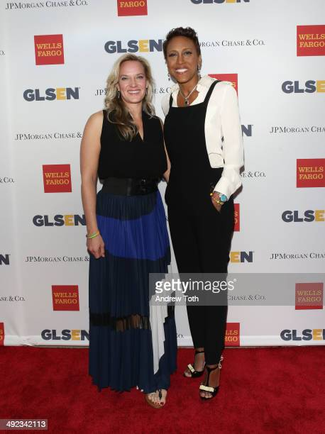 News anchor Robin Roberts and partner Amber Laign attend 11th Annual GLSEN Respect awards at Gotham Hall on May 19 2014 in New York City