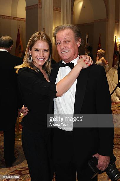 News anchor Sara Haines and photographer Patrick McMullan attend the 60th International Debutante Ball at The Waldorf=Astoria on December 29 2014 in...