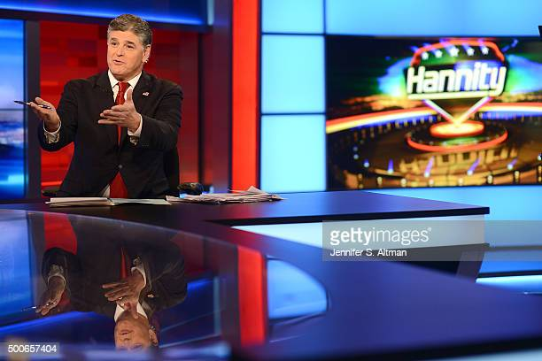 News anchor Sean Hannity is photographed for Los Angeles Times on October 26 2015 in New York City PUBLISHED IMAGE