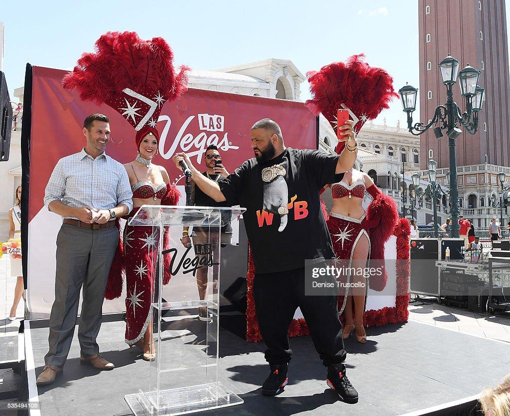 FOX5 news anchor Sean McAllister, DJ Khaled, Las Vegas showgirls