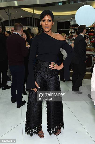 News Anchor Tamron Hall and attends the Pentatonix performance at Westfield World Trade Center Holiday Lights Launch at The Oculus Westfield World...