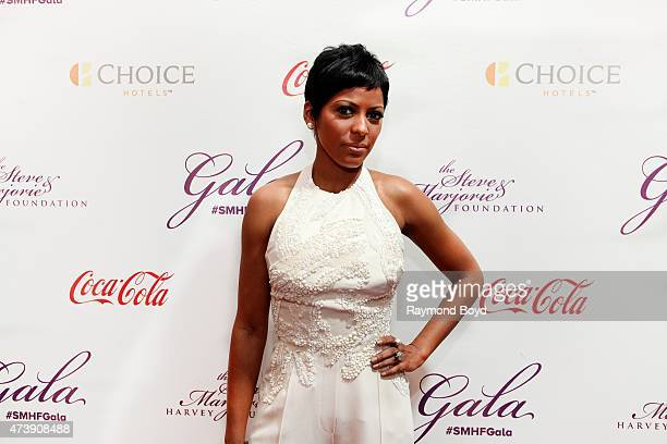 MSNBC news anchor Tamron Hall attends the 2015 Steve and Marjorie Harvey Foundation Gala at the Hilton Chicago on May 16 2015 in Chicago Illinois