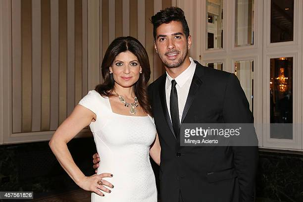 News anchor Tamsen Fadal and photographer Javier Gomez attend 2014 Moving Families Forward Gala at The WaldorfAstoria on October 20 2014 in New York...