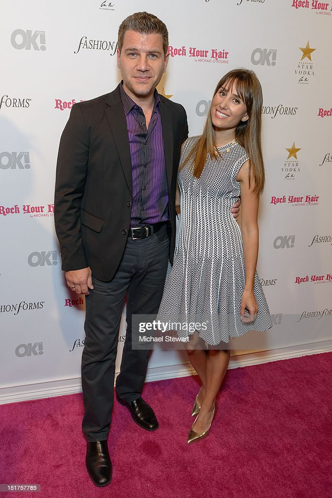 News anchor Tom Murro and actress Rachel Heller attend the OK! Magazine Fashion Week Party at Cielo on September 10, 2012 in New York City.