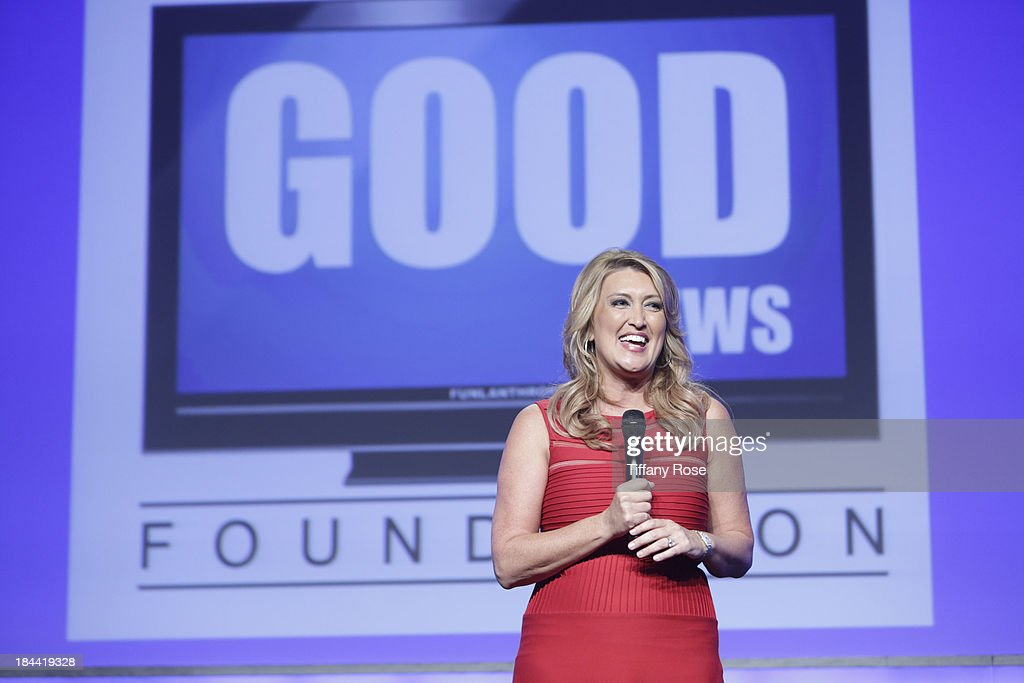News anchor Wendy Burch attends the Good News Foundation's Feel Good event of the year honoring Maria Shriver with the Lifetime Achievement Award at The Beverly Hilton Hotel on October 13, 2013 in Beverly Hills, California.
