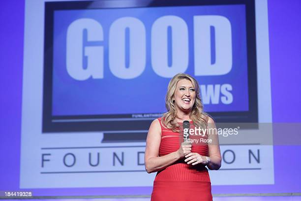 News anchor Wendy Burch attends the Good News Foundation's Feel Good event of the year honoring Maria Shriver with the Lifetime Achievement Award at...