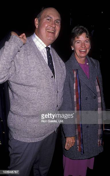 News Anchor Willard Scott and wife Mary Dwyer sighted on November 28 1989 at Rockefeller Plaza in New York City