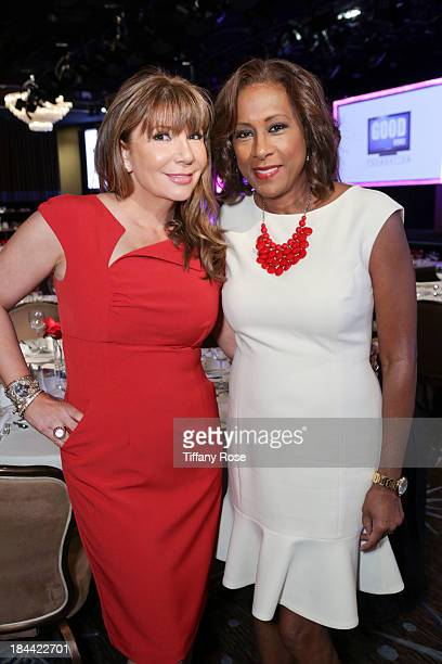 News anchors Ana Garcia and Pat Harvey attend the Good News Foundation's Feel Good event of the year honoring Maria Shriver with the Lifetime...