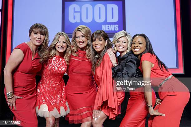 News Anchors Ana Garcia Dorothy Lucey Wendy Burch Christine Devine Leslie Miller and Nischelle Turner attend the Good News Foundation's Feel Good...
