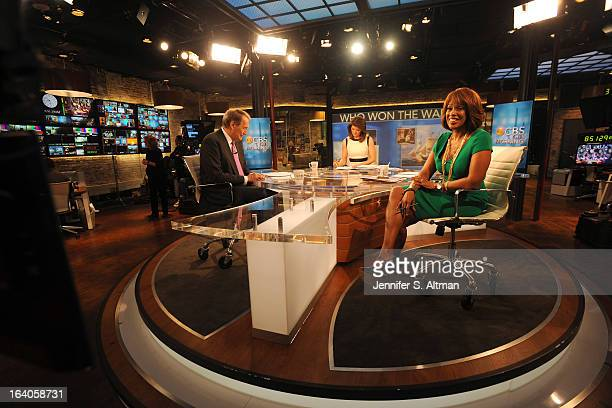 News anchors Charlie Rose Gayle King and Norah O'Donnell are photographed for Los Angeles Times on January 29 2013 in New York City PUBLISHED IMAGE