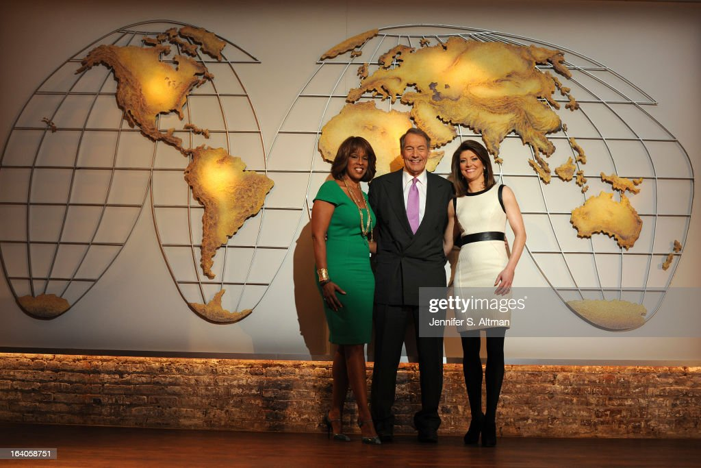 News anchors Charlie Rose, Gayle King and Norah O'Donnell are photographed for Los Angeles Times on January 29, 2013 in New York City.