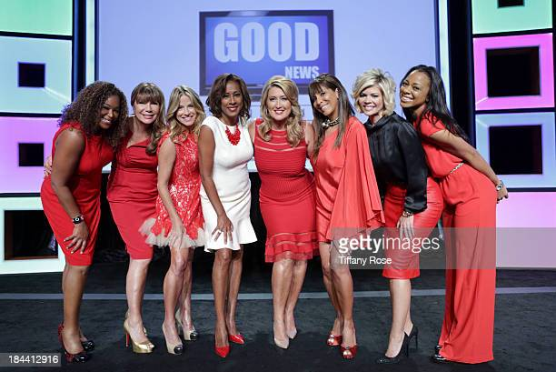 News anchors Deborah Duncan Ana Garcia Dorothy Lucey Pat Harvey Wendy Burch Christine Devine Leslie Miller and Nischelle Turner attend the Good News...