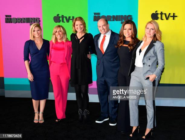 CNN News anchors Jennifer Westhoven Alisyn Camerota Christine Romans Brian Stelter and Robin Meade arrive for Apples The Morning Show global premiere...