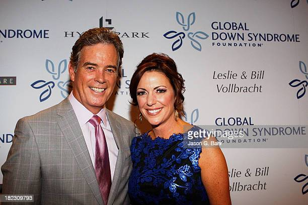 News anchors John Roberts and Kyra Phillips attend the Global Down Syndrome Foundation's Be Yourself Be Beautiful Fashion Show at Sheraton Downtown...