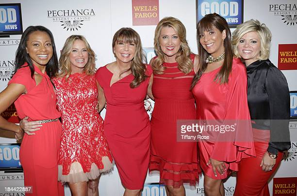 News Anchros Nischelle Turner Dorothy Lucey Ana Garcia Wendy Burch Christine Devine and Leslie Miller attend the Good News Foundation's Feel Good...