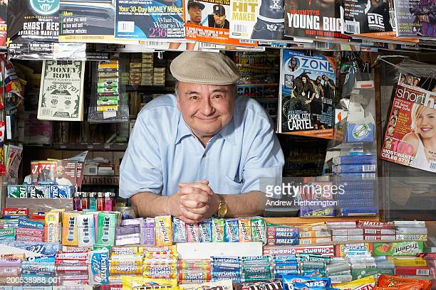 News and magazine kiosk operator, portrait