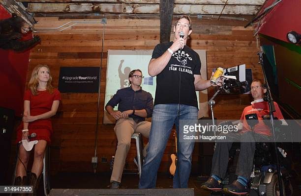 NBC News and MSNBC correspondent Olivia Sterns Team Gleason's Blair Casey former NFL player and producer Scott Fujita and former NFL player and ALS...