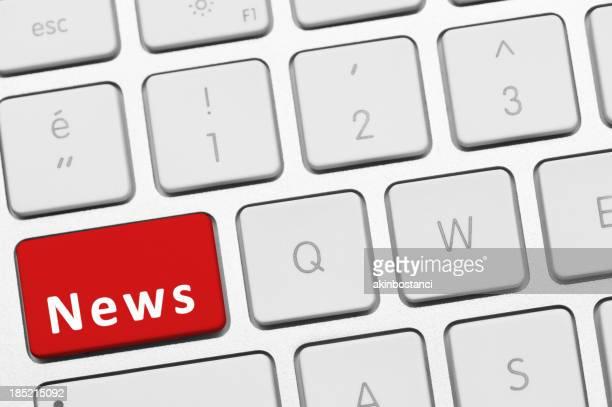 News-Taste auf der Tastatur