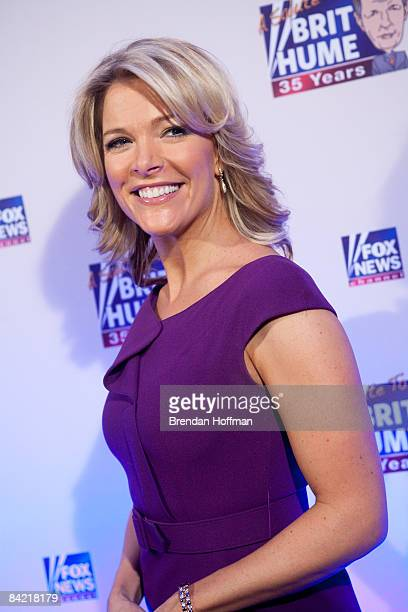News Channel host Megyn Kelly poses on the red carpet upon arrival at a salute to FOX News Channel's Brit Hume on January 8 2009 in Washington DC...
