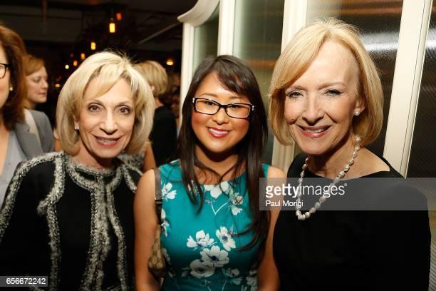 NBC News Chief Andrea Mitchell Lauren Hunt and Anchor Managing Editor of PBS Newshour Judy Woodruff attend ELLE and Bottega Veneta Women in...