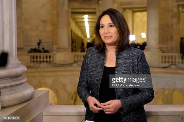 News' Chief Congressional Correspondent Nancy Cordes reports live from Capitol Hill for coverage of the 2018 State of the Union on Jan 30 in...