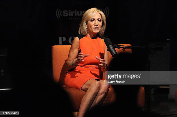 News Chief Foreign Affairs correspondent Andrea Mitchell during an interview on the 'SiriusXM Leading Ladies' series at SiriusXM studios on August 15...