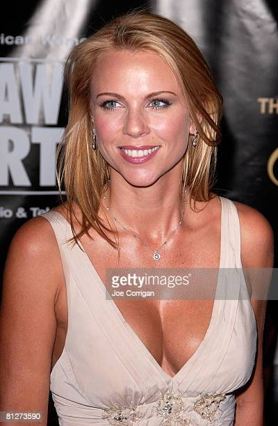 CBS news chief foreign correspondent Lara Logan arrives at The 33rd Annual American Women in Radio Television's Gracie Allen Awards held at the...