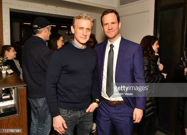 News' chief legal affairs anchor Dan Abrams and lawyer Justin Brown attend after party for NY premiere of HBO's The Case Against Adnan Syed at Loring...