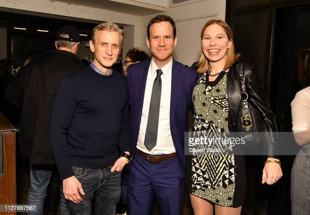 ABC News' chief legal affairs anchor Dan Abrams and lawyers Justin Brown and Susan Simpson attend after party for NY premiere of HBO's The Case...