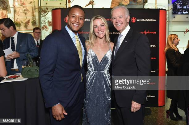 News CoAnchor Craig Melvin Lindsay Czarniak and Former Vice President Joe Biden attend the 5th Annual Save the Children Illumination Gala at the...