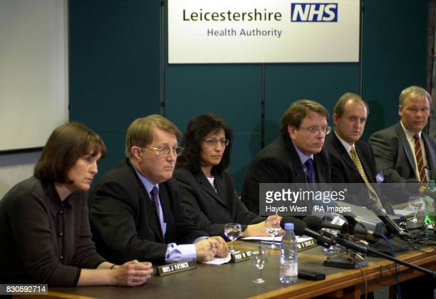 A news conference at the Leicestershire Health Authority headquarters * Julietta Patnick National Coordinator for NHS cancer screening programmes...
