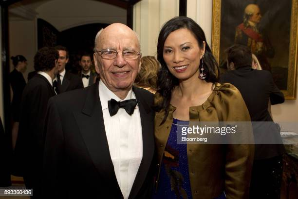 News Corp Chairman Rupert Murdoch and his wife Wendi Murdoch attend the Bloomberg Vanity Fair White House Correspondents' Association dinner...