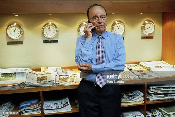 News Corporation Chairman and CEO Rupert Murdoch photographed in his office at News International in Wapping London before his interview with writer...