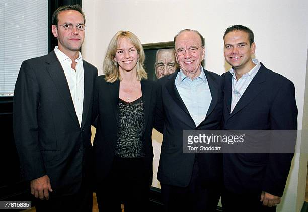 News Corporation Chairman and CEO Rupert Murdoch photographed with the heirs to his media empire The Murdochs were together at a private family...