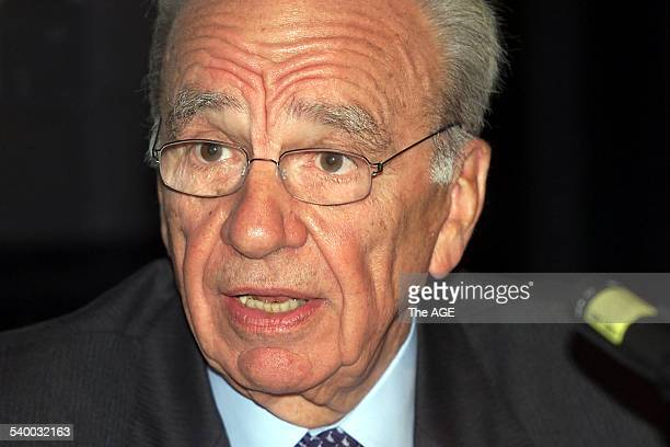 News Corporation Limited Chairman and CEO Rupert Murdoch at today's AGM in Adelaide THE AGE Picture by BRIAN CHARLTON