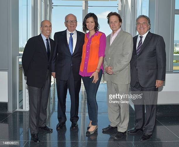 News Corporation presents MPTF campaign with $20 Million commitment at Fox Studios July 16 2012 in Century City California MPTF Board Member and...
