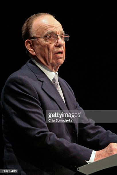 News Corportation Chairman Rupert Murdoch addresses the dedication ceremony of the Newseum April 11, 2008 in Washington, DC. The 250,000-square-foot...